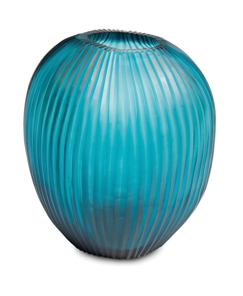 Vase guaxs gournia clear petrol